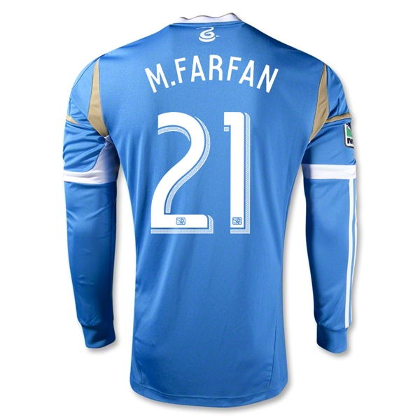 Philadelphia Union 2013 M.FARFAN Authentic LS Secondary Soccer Jersey