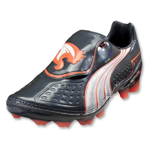 PUMA v1.11 i FG Cleats (Team Charcoal/White/Fluo Peach)