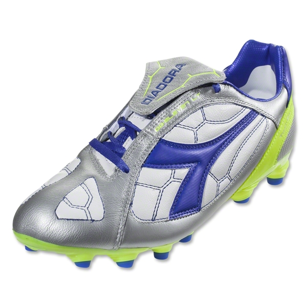 Diadora DD Eleven LT MG 14 Soccer Shoes (Silver/Royal/White)