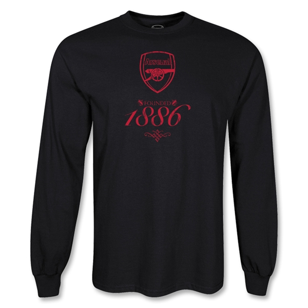Arsenal LS 1886 T-Shirt (Black)