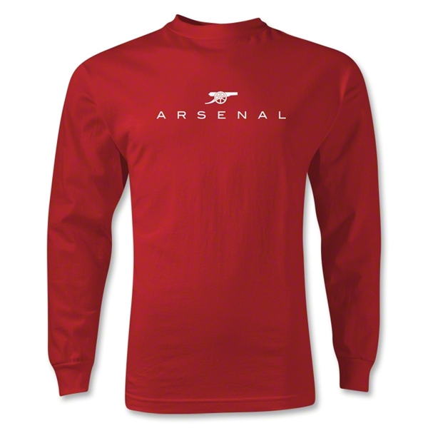 Arsenal Print LS T-Shirt (Red)
