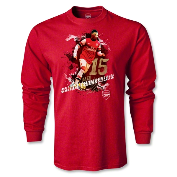 Arsenal Oxlade-Chamberlain Player LS T-Shirt (Red)