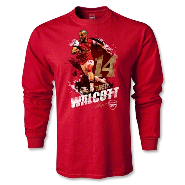 Arsenal Walcott Player LS T-Shirt (Red)