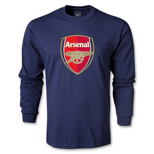 Arsenal Crest LS T-Shirt (Navy)