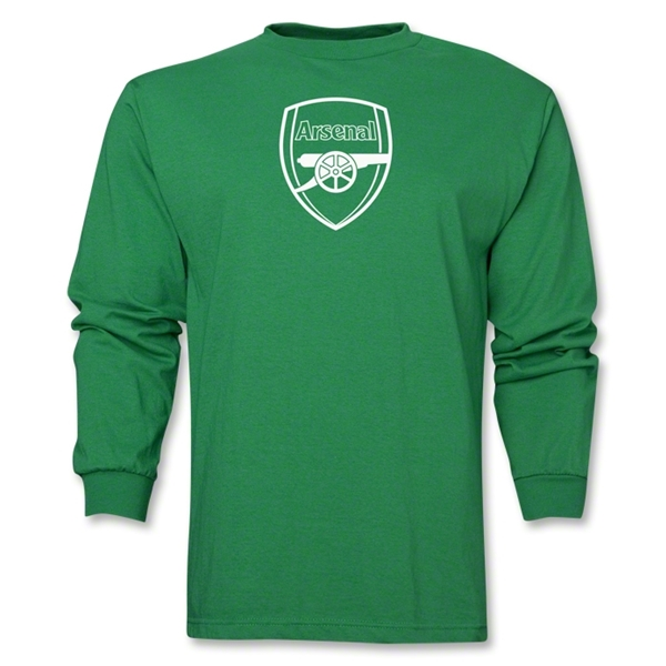 Arsenal Crest LS T-Shirt (Green)