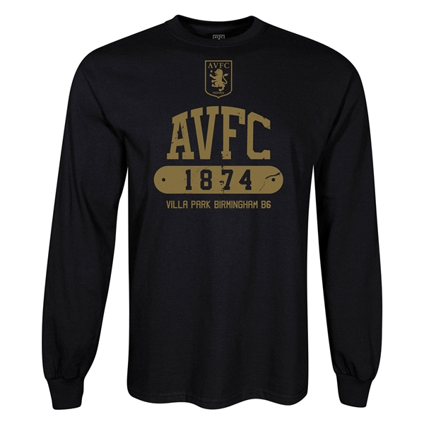Aston Villa AVFC LS T-Shirt (Black)