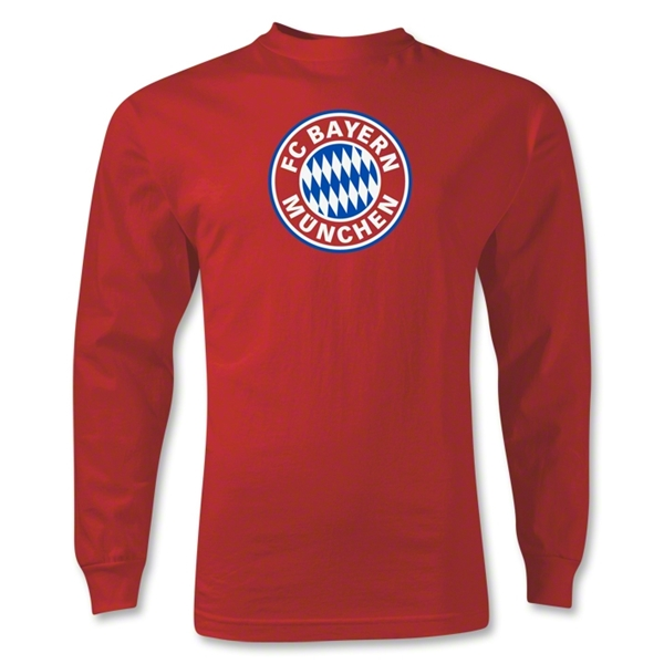 Bayern Munich LS Logo T-Shirt (Red)