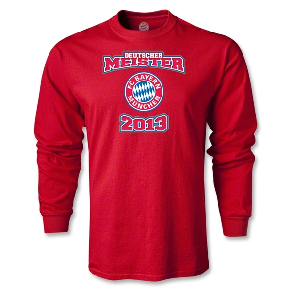 Bayern Munich 2013 LS Deutsher Meister T-Shirt (Red)