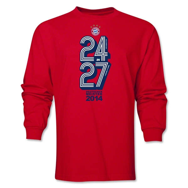 Bayern Munich 2014 Champions LS T-Shirt (Red)
