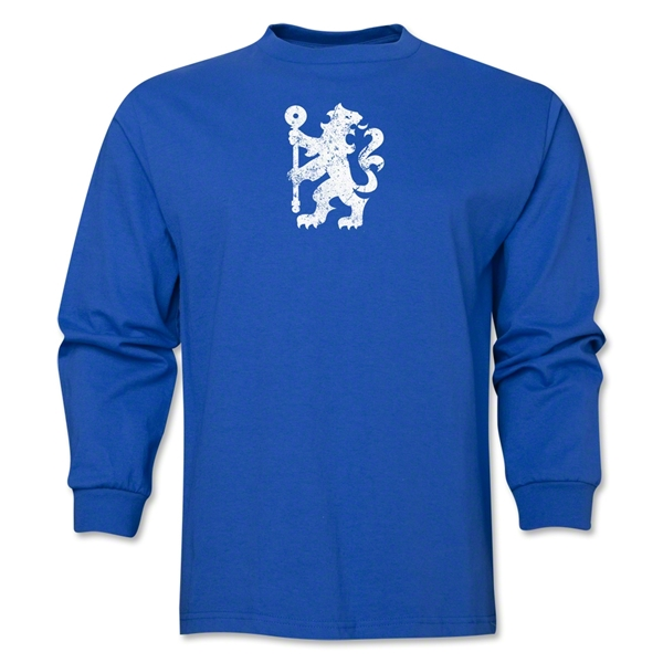 Chelsea Distressed Lion LS T-Shirt (Royal)