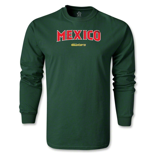 CONCACAF Gold Cup 2013 LS Mexico T-Shirt (Dark Green)