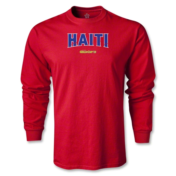 CONCACAF Gold Cup 2013 LS Haiti T-Shirt (Red)