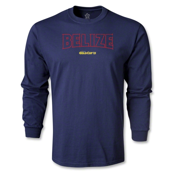 CONCACAF Gold Cup 2013 LS Belize T-Shirt (Navy)