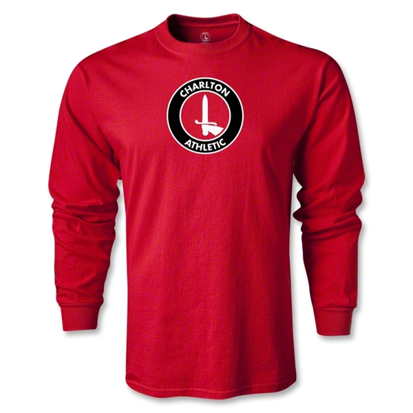 Charlton Athletic Crest LS T-Shirt (Red)