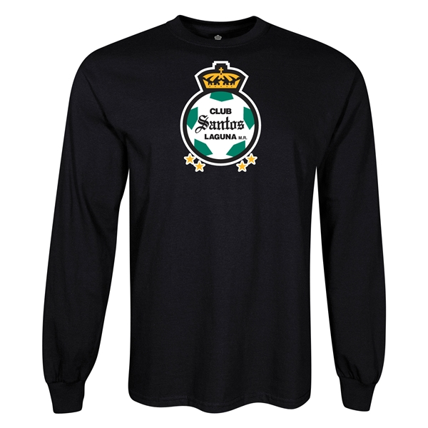 Santos Laguna Graphic LS T-Shirt (Black)