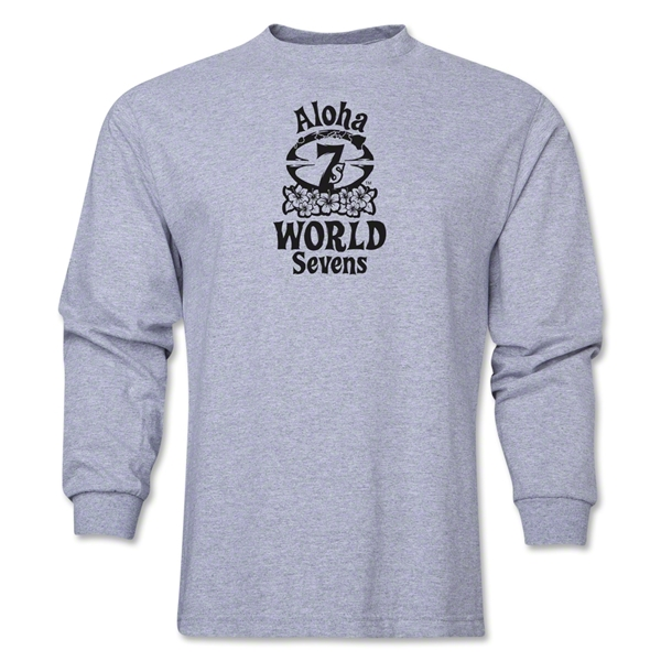 Aloha World Sevens Long Sleeve T-Shirt (Grey)