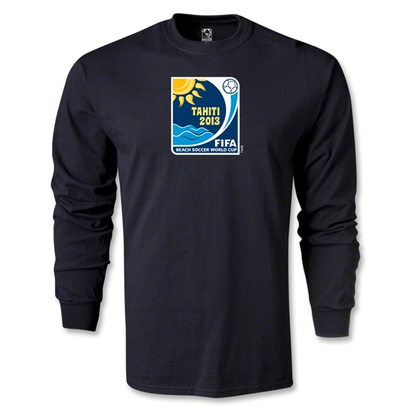 FIFA Beach World Cup 2013 LS Emblem T-Shirt (Black)