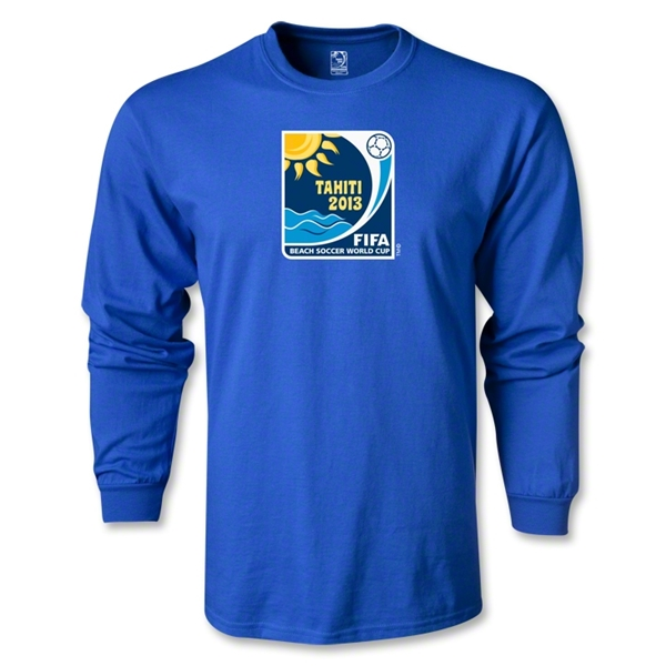 FIFA Beach World Cup 2013 LS Emblem T-Shirt (Royal)