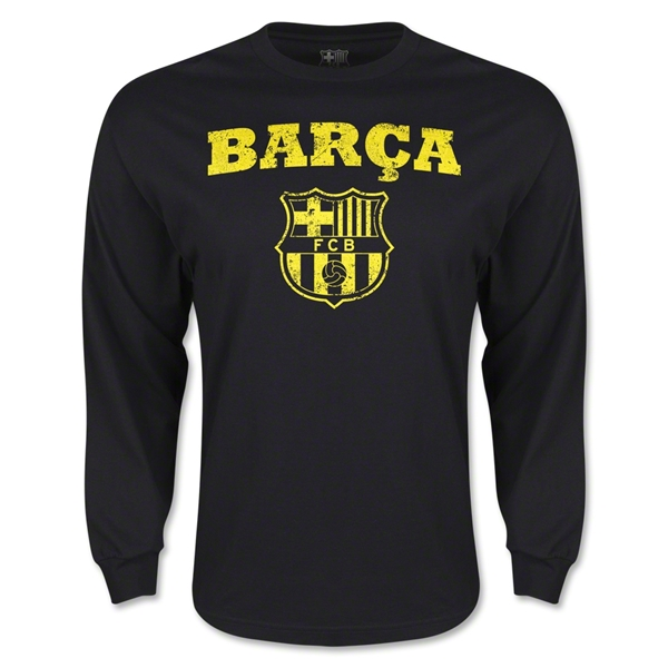 Barcelona Supporters LS T-Shirt (Black)