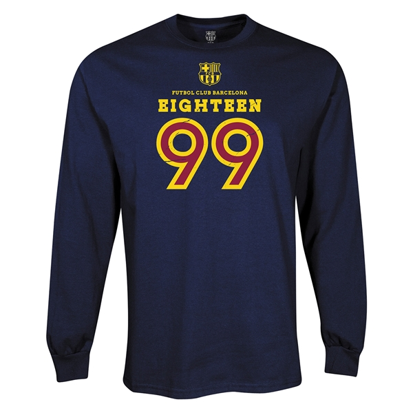 FC Barcelona Eighteen 99 LS T-Shirt (Navy)