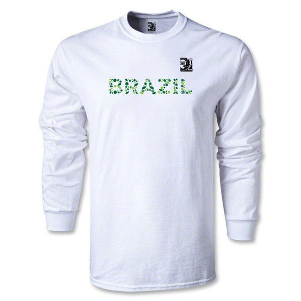 FIFA Confederations Cup 2013 Brazil LS T-Shirt (White)
