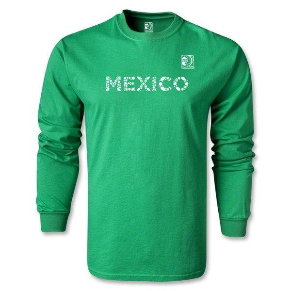 FIFA Confederations Cup 2013 Mexico LS T-Shirt (Green)