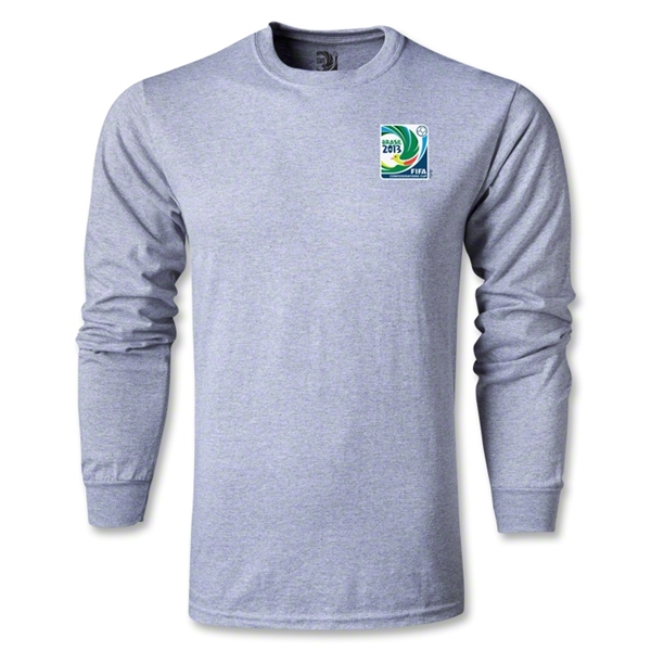FIFA Confederations Cup 2013 LS Small Emblem T-Shirt (Gray)