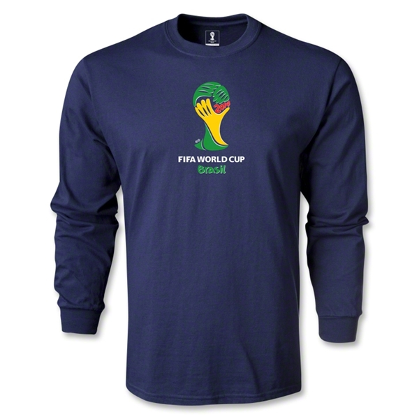 2014 FIFA World Cup Brazil(TM) Emblem LS T-Shirt (Navy)