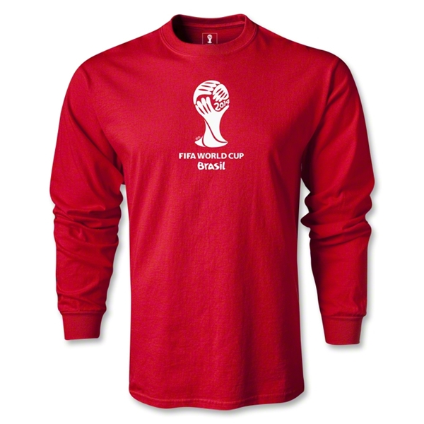2014 FIFA World Cup Brazil(TM) LS Emblem T-Shirt (Red)