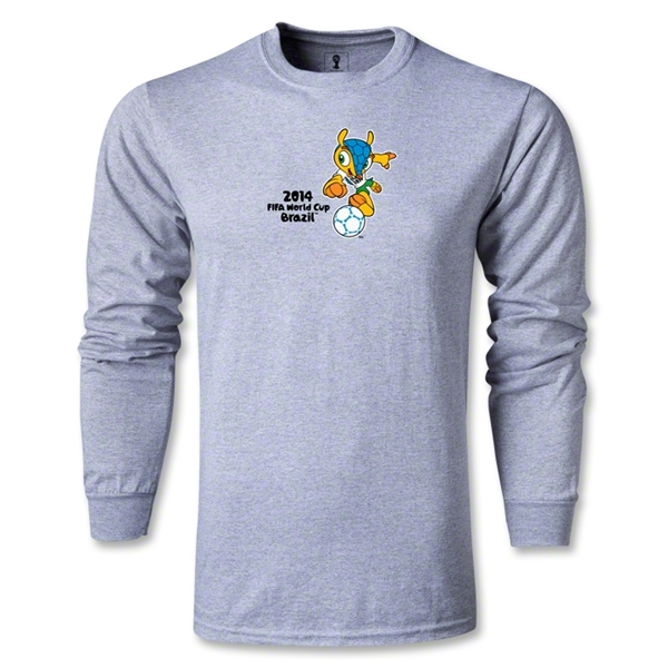 2014 FIFA World Cup Brazil(TM) LS Mascot T-Shirt (Gray)