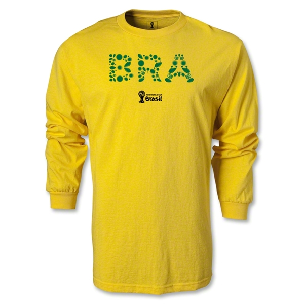 Brazil 2014 FIFA World Cup Brazil(TM) LS T-Shirt (Yellow)