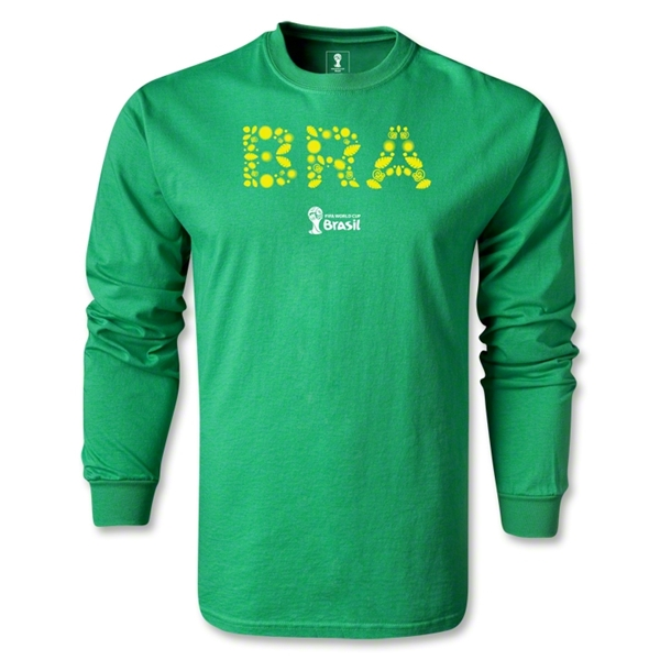 Brazil 2014 FIFA World Cup Brazil(TM) LS T-Shirt (Green)