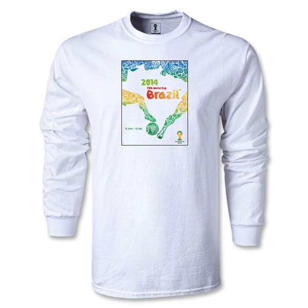 Official Event Poster 2014 FIFA World Cup Brazil(TM) Men's LS T-Shirt (White)