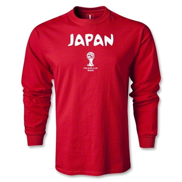 Japan 2014 FIFA World Cup Brazil(TM) Core LS T-Shirt (Red)
