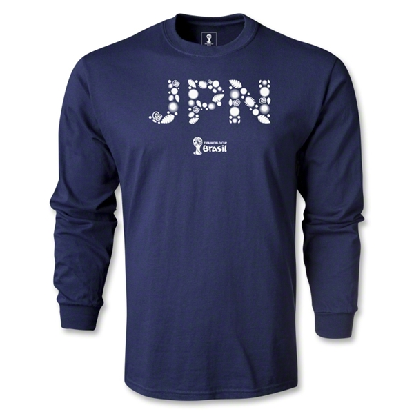 Japan 2014 FIFA World Cup Brazil(TM) Team LS T-Shirt (Navy)