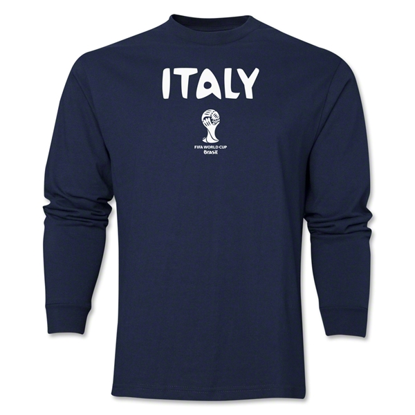 Italy 2014 FIFA World Cup Brazil(TM) Men's LS Core T-Shirt (Navy)
