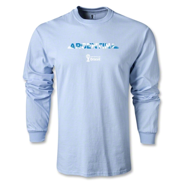 Argentina 2014 FIFA World Cup Brazil(TM) Men's LS Palm T-Shirt (Sky)