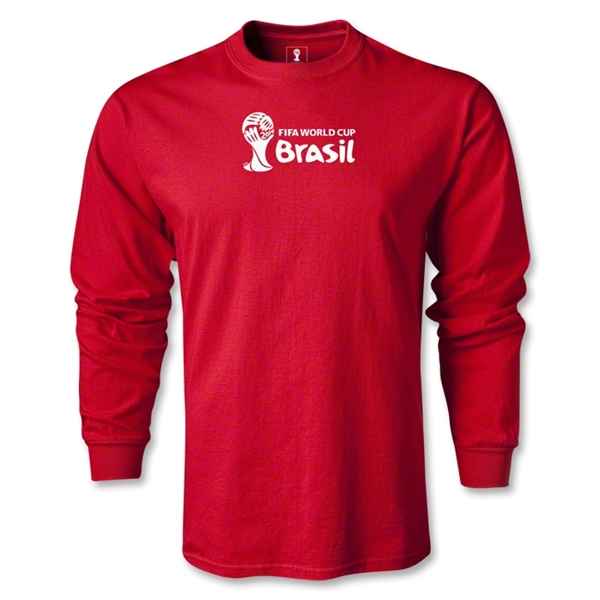 2014 FIFA World Cup Brazil(TM) Landscape LS T-Shirt (Red)