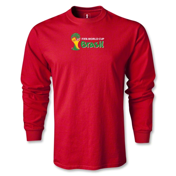 2014 FIFA World Cup Brazil(TM) LS Landscape Emblem T-Shirt (Red)