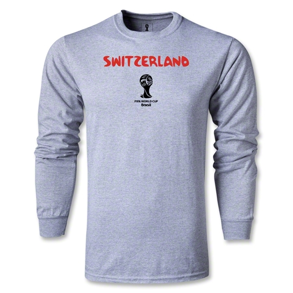 Switzerland 2014 FIFA World Cup Brazil(TM) Men's LS Core T-Shirt (Grey)