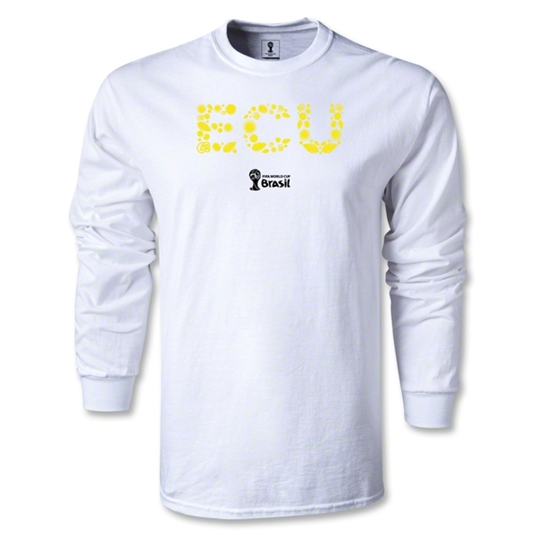 Ecuador 2014 FIFA World Cup Brazil(TM) Men's LS Elements T-Shirt (White)