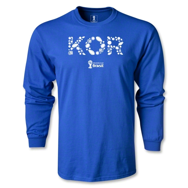 South Korea 2014 FIFA World Cup Brazil(TM) Men's LS Elements T-Shirt (Royal)