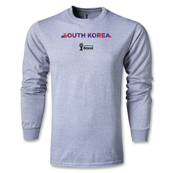 South Korea 2014 FIFA World Cup Brazil(TM) Men's LS Palm T-Shirt (Gray)