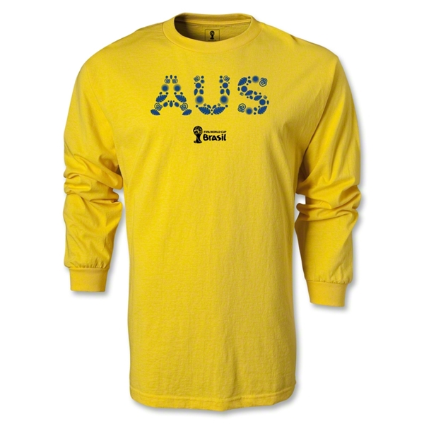Australia 2014 FIFA World Cup Brazil(TM) Men's LS Core T-shirt (Yellow)