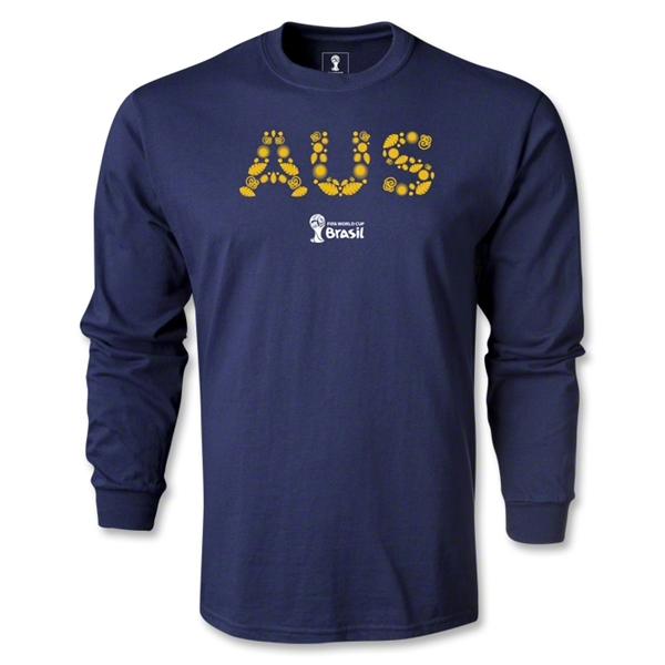 Australia 2014 FIFA World Cup Brazil(TM) Men's LS Core T-shirt (Navy)