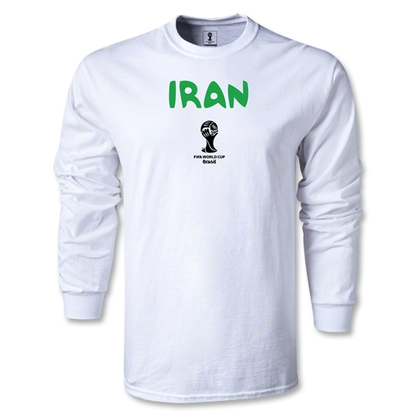 Iran 2014 FIFA World Cup Brazil(TM) Men's LS Core T-shirt (White)