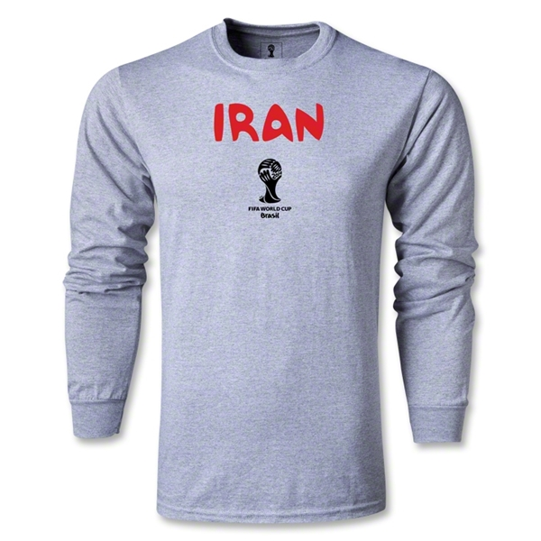 Iran 2014 FIFA World Cup Brazil(TM) Men's LS Core T-shirt (Gray)