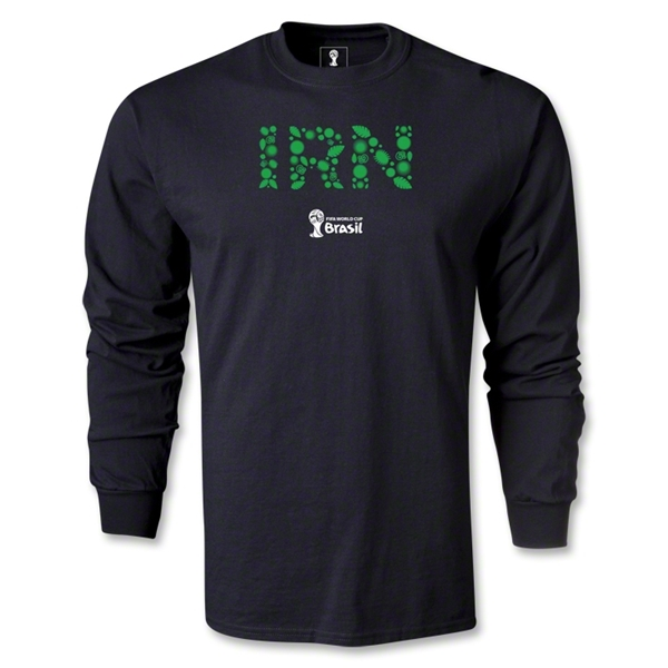 Iran 2014 FIFA World Cup Brazil(TM) Men's LS Elements T-Shirt (Black)