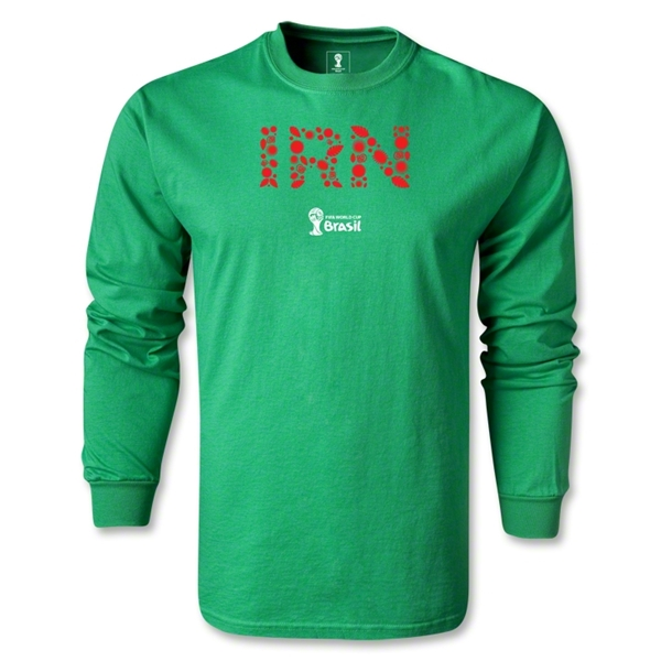 Iran 2014 FIFA World Cup Brazil(TM) Men's LS Elements T-Shirt (Green)