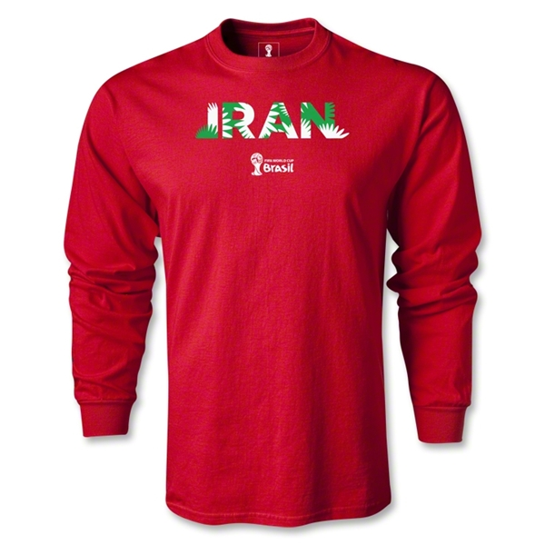 Iran 2014 FIFA World Cup Brazil(TM) Men's LS Palm T-Shirt (Red)